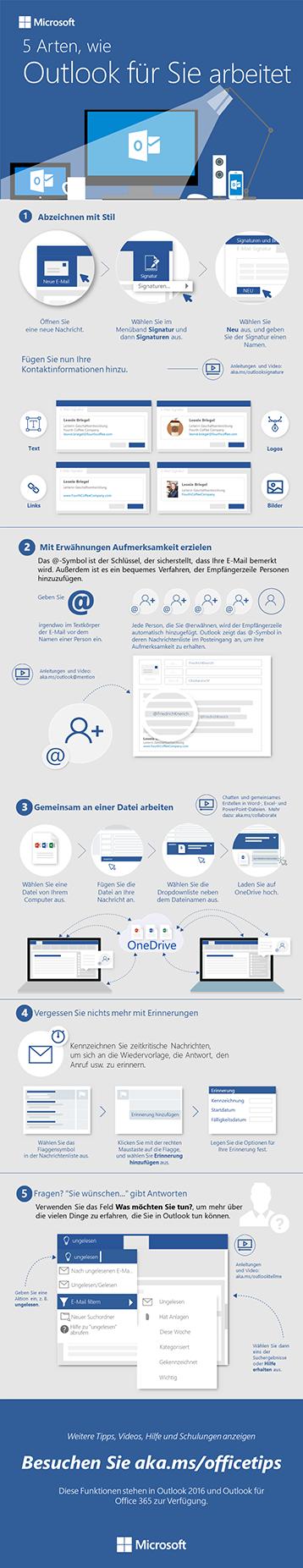 5 Schritte zu einfacherer E-Mail in Outlook 2016