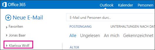 Anzeige eines freigegebenen Ordners in Outlook Web App