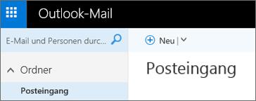 So sieht das neue Menüband von Outlook.com aus.