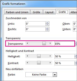 "Screenshot des Dialogfelds ""Grafik formatieren"" in Publisher"