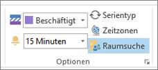 """Schaltfläche """"Raumsuche"""" in Outlook 2013"""