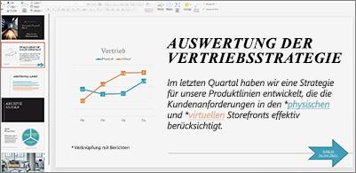 Präsentation mit in unterschiedlichen Farben formatierten Links