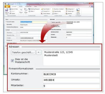 Ladendatensatz mit Adressen