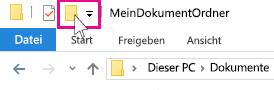 """Das Symbol """"Neuer Ordner"""""""