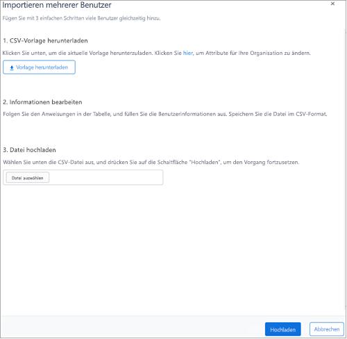 Screenshot: Massen hinzufügen Benutzer zu Kaizala