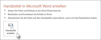 Handzettel in Word erstellen