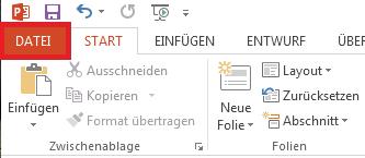 """Klicken Sie links oben im Bildschirm auf """"Datei""""."""