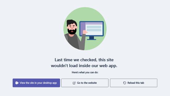 Optionen, wenn beim Laden einer Website Probleme auftreten