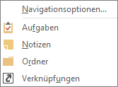 """Klicken Sie auf der Schnellzugriffsleiste auf """"Mehr"""" (die drei Punkte), um die Navigationsoptionen anzuzeigen."""