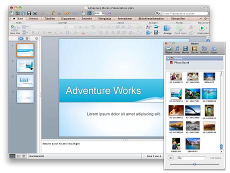 PowerPoint-Präsentation und Medienbrowser