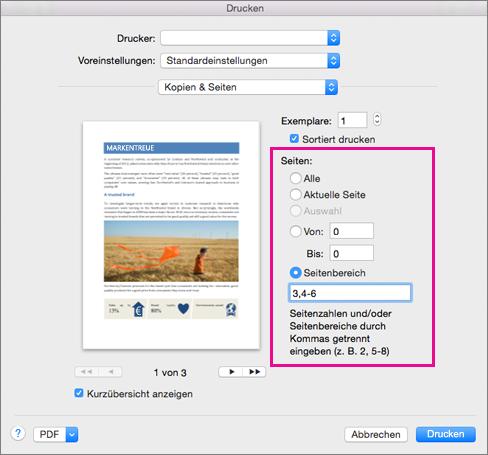 Drucken Eines Dokuments In Word Für Mac Word For Mac