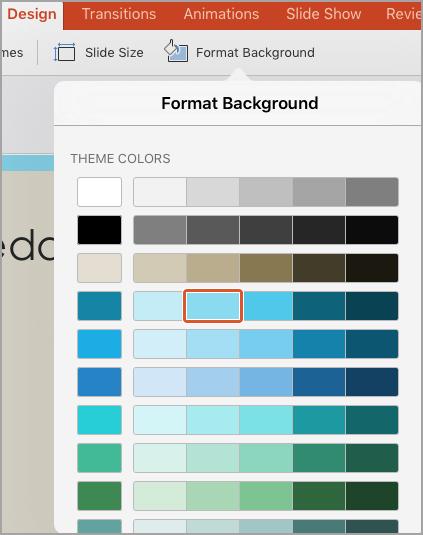 Hintergrundfarben
