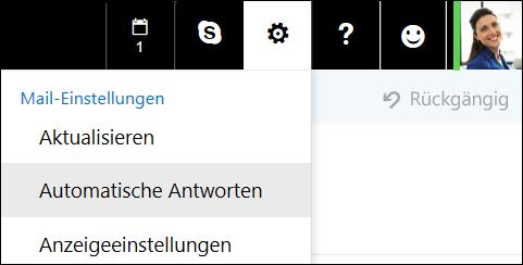 Outlook im Web – Automatische Antworten
