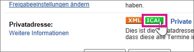 Google Calendar - privaten iCal erstellen
