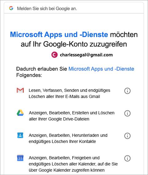 Google-Genehmigung anfordern