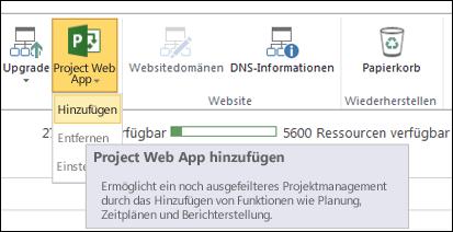 Project Web App > Hinzufügen