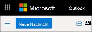 So sieht das Menüband in Outlook im Web aus.