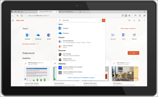Microsoft Search in Office für das Web