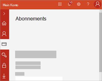 Screenshot meines Konto Portals