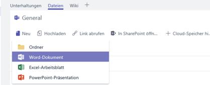 Erstellen oder Hochladen einer neuen Datei in die Dateibibliothek Ihres Kanals