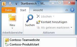 Ein mit einem Synchronisierungsfehlersymbol gekennzeichneter SharePoint-Arbeitsbereich