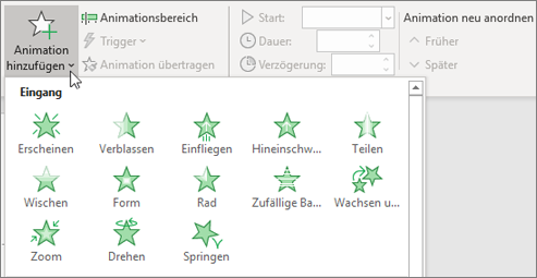 Office 365 PowerPoint – Animation hinzufügen