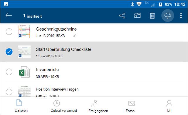 OneDrive-Dateien für offline kennzeichnen