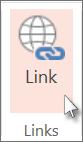 """Auf der Registerkarte """"Einfügen"""" auf """"Link"""" klicken"""