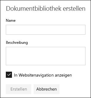 Details der Dokumentbibliothek