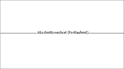 Zeigt einen Abschnittsumbruch in einem Dokument