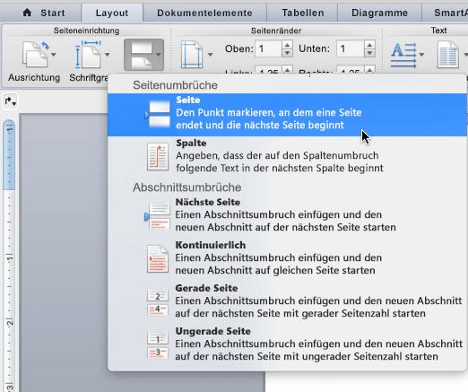 Hinzufügen Oder Löschen Einer Seite In Word Für Mac Word For Mac