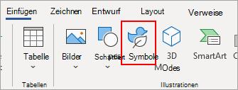 Auswählen von Symbolen