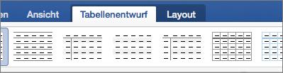 Zeigt die Registerkarten der Tabellenentwurf und Layout für die Verwaltung von Tabellen