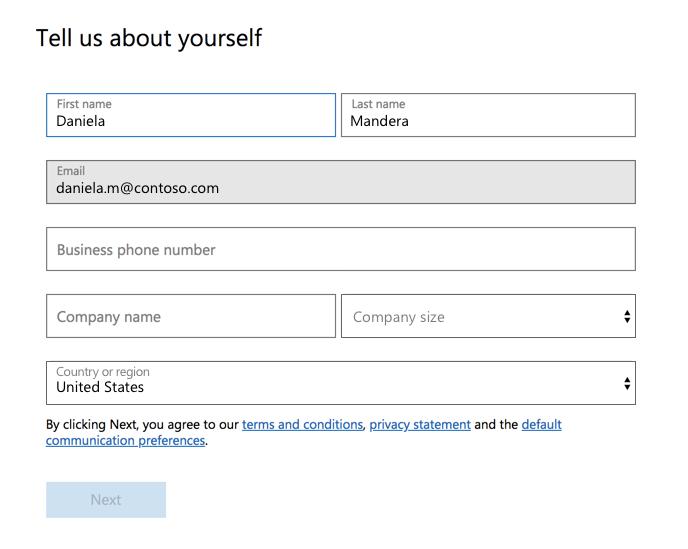 Registrieren für die kostenlose Version von Microsoft Teams