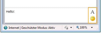 Chat-Formatierungsschaltflächen