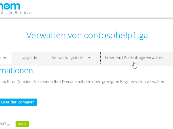 Freenom Manage Freenom DNS
