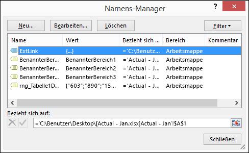"""Dialogfeld """"Namens--Manager"""""""