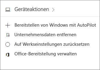 "Screenshot der Karte ""Geräte"" im Admin Center"
