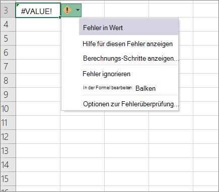Dropdown-Liste neben Spur Wert Symbol angezeigte