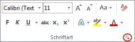"""Startprogramm für das Dialogfeld """"Schriftart"""""""
