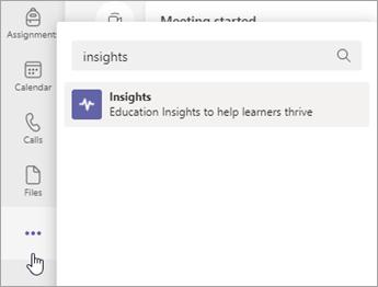 "App ""Insights hinzufügen"""
