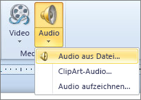"Menü ""Audio"""