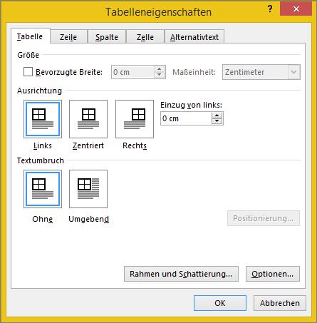 Festlegen oder ndern von tabelleneigenschaften office for Tabelle mit 9 spalten