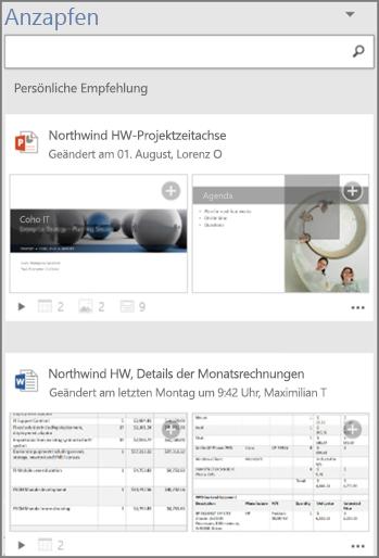 """Bereich """"Anzapfen"""" – Neuerungen"""