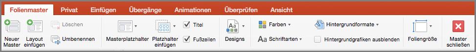 PowerPoint für Mac, Folienmaster