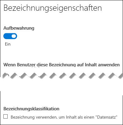 """Kontrollkästchen """"Inhalte als Datensatz klassifizieren"""""""