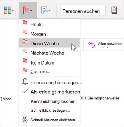Kennzeichnen einer Nachricht zur Nachverfolgung in Outlook