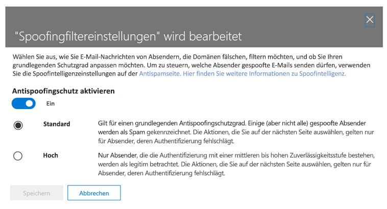"""Anti-Phishing-mit Basic """"und"""" hoch"""