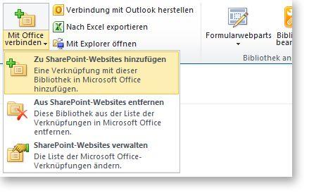 Schaltfläche 'Mit Office verbinden'