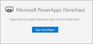 """Schaltfläche """"App HinzuFügen"""""""